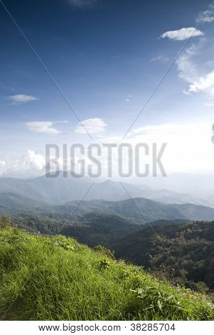 Beautiful Valley A View From Intanont Mountain, Thailand