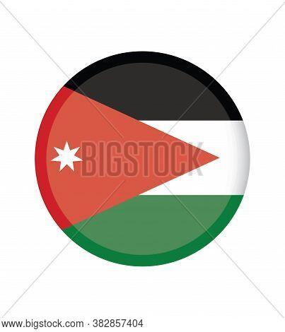 National Jordan Flag Official Colors And Proportion Correctly. National Jordan Flag
