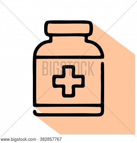 Medicine Vector Icon. Medicine Editable Stroke. Medicine Linear Symbol For Use On Web And Mobile App