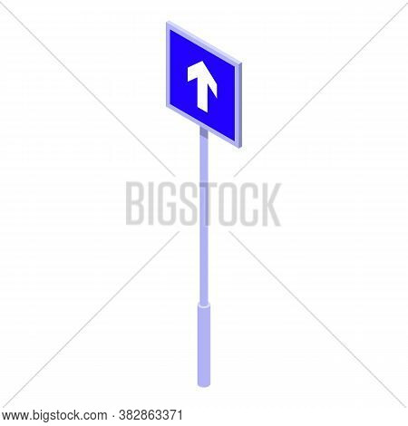 One Direction Sign Road Icon. Isometric Of One Direction Sign Road Vector Icon For Web Design Isolat