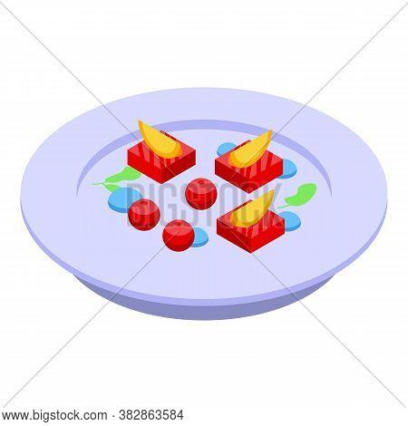 Sweet Molecular Cuisine Icon. Isometric Of Sweet Molecular Cuisine Vector Icon For Web Design Isolat