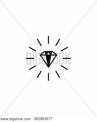 Diamond Icon,bright Diamond,vector Best Flat Diamond Icon.