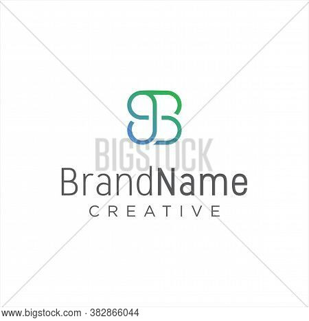 Monogram Double B Logo Design Line Monoline Vector Stock. Letter B Logo Business Design Template. Si
