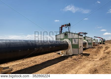 Construction Of Gas Pipeline. New Energy Pipeline Construction