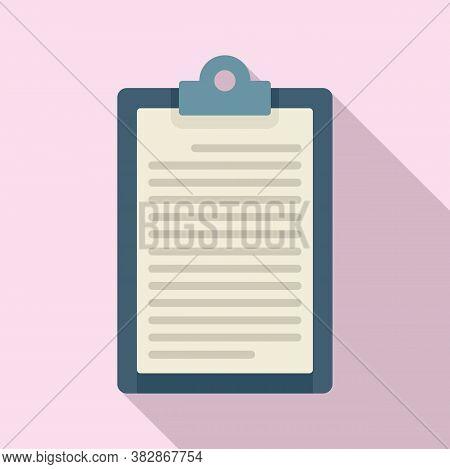 Conclusion Clipboard Icon. Flat Illustration Of Conclusion Clipboard Vector Icon For Web Design