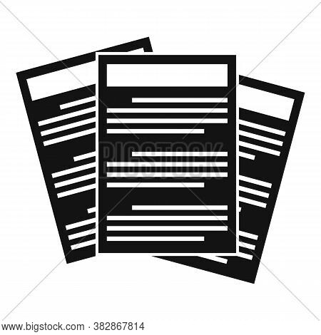 Conclusion Papers Icon. Simple Illustration Of Conclusion Papers Vector Icon For Web Design Isolated