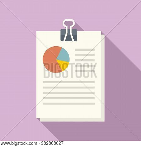 Audit Pie Chart Icon. Flat Illustration Of Audit Pie Chart Vector Icon For Web Design