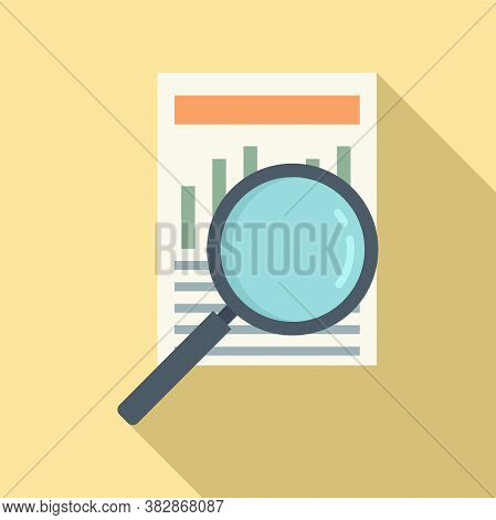 Search Audit Info Icon. Flat Illustration Of Search Audit Info Vector Icon For Web Design