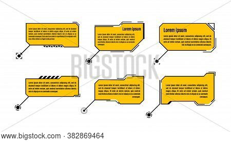 Hud Futuristic Style Callout Titles. Futuristic Callout Bar Labels. Vector Stock Illustration