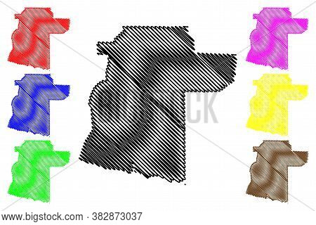 Siem Reap City (kingdom Of Cambodia, Kampuchea) Map Vector Illustration, Scribble Sketch City Of Sie