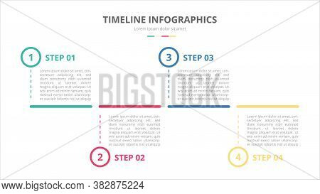 Timeline Infographics Template Banner Concept With Horizontal Layout And 4 Step Process With Modern