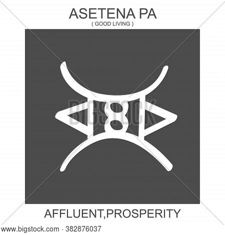 Vector Icon With African Adinkra Symbol Asetena Pa. Symbol Of Affluent And Prosperity