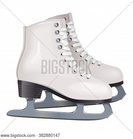 Vector Skates Icon Isolated On White Background