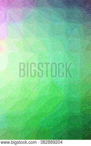 Abstract Illustration Of Green Color Pencil High Coverage Background.