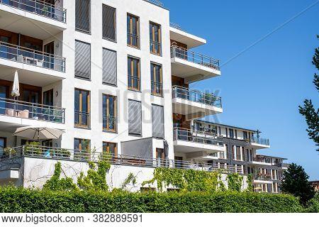 Row Of Modern Townhouses Seen In Berlin, Germany