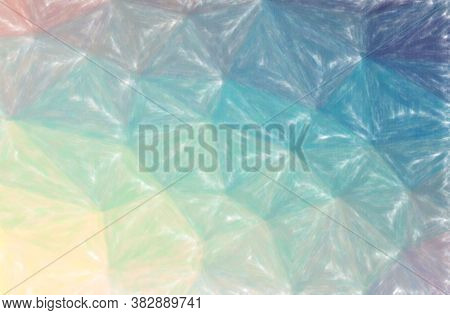 Abstract Illustration Of Blue, Green, Yellow Low Coverage Pastel Background.