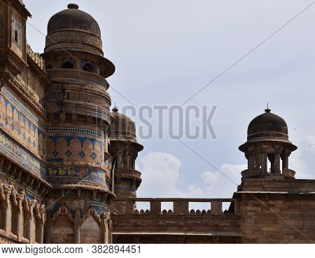 Gwalior, Madhya Pradesh/india : March 15, 2020 - Top View Of Man Singh Palace At Gwalior Fort