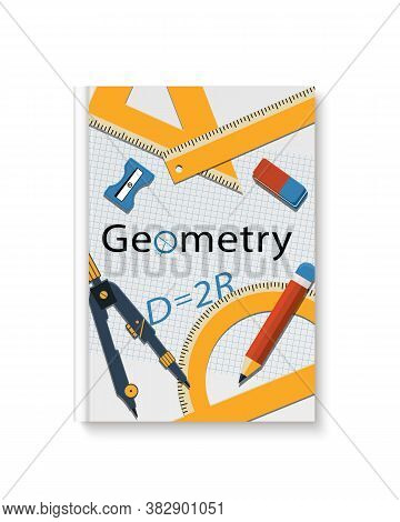 Geometry Cover Book.  Mock Up Geometry Textbook