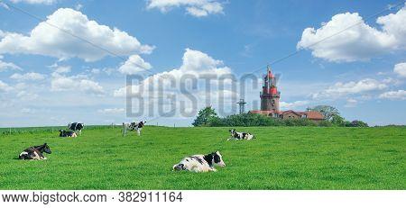 Lighthouse Of Bastorf Near Kuehlungsborn At Baltic Sea,germany