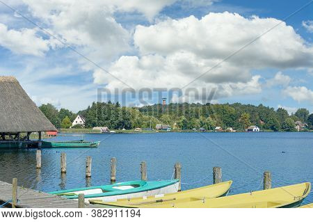 Waterfront In Village Of Krakow Am See,mecklenburg Lake District,germany