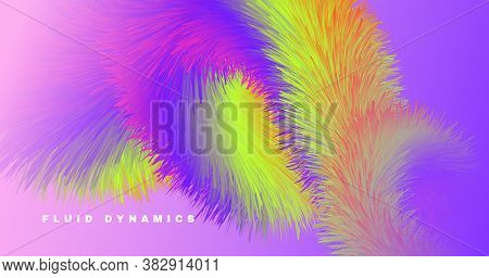 Graphic Color Fluid. Wave Pattern. Abstract Motion. Liquid Futuristic Cover. Bright Movement. Flow C