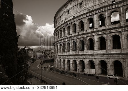Colosseum, the world known landmark and the symbol of Rome, Italy.