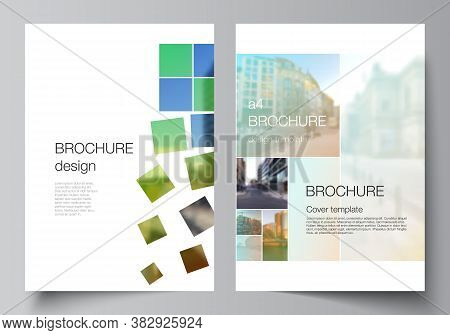 Vector Layout Of A4 Cover Mockups Design Templates For Brochure, Flyer Layout, Booklet, Cover Design