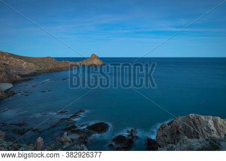 Coastal Landscape At Sunset. Natural Park Of Cabo De Gata. Andalucia. Spain.