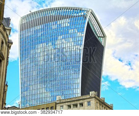 London, Great Britain -may 23, 2016: Fenchurch Street, A Commercial Skyscraper, The Walkie-talkie, M