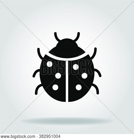 Logo Or Symbol Of Ladybug Icon With Black Fill Style
