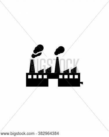 Factory Icon,factory Pollution,vector Best Flat Factory Icon.