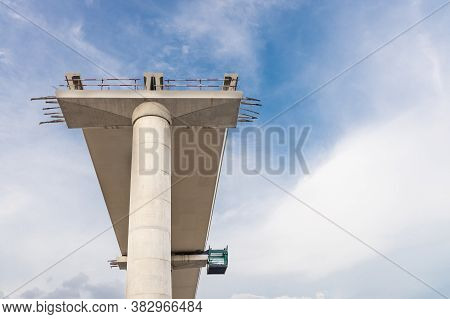Construction Of Mass Light Rail Transit Track Infrastructure In Progress In Malaysia