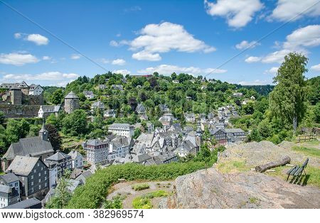 Idyllic Medieval Village Of Monschau In Eifel,germany