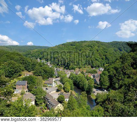 Village Of Solingen-unterburg At Wupper River In Bergisches Land,germany