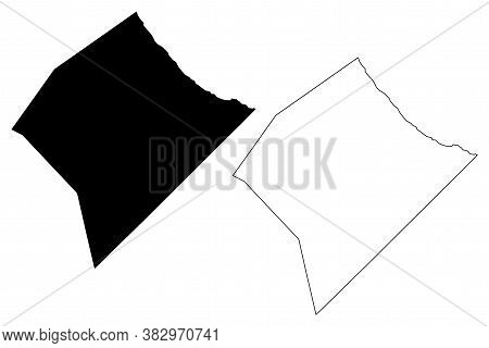 St. Joseph (barbados, Parishes Of Barbados) Map Vector Illustration, Scribble Sketch Parish Of Saint