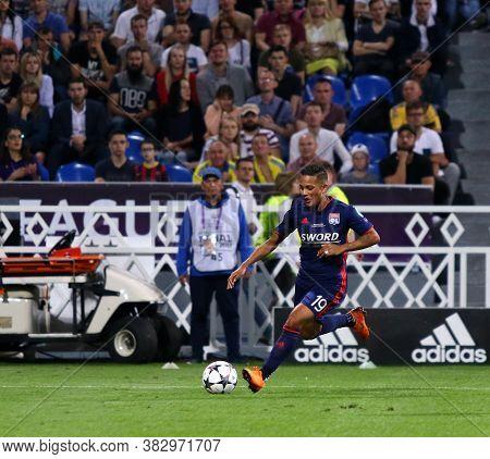 Kyiv, Ukraine - May 24, 2018: Shanice Van De Sanden Of Olympique Lyonnais Controls A Ball During The