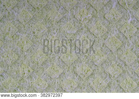 Household Cleaning Sponges Closeup. Sponge Detail Texture, Sponge Texture Close Up Background. Cellu