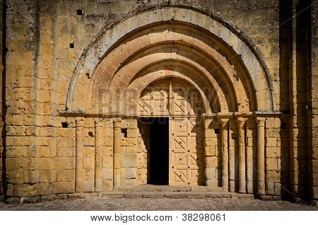 Stone Church Entrance Door And Arcs
