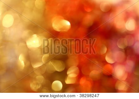 Christmas Lights And Bokeh (golden&red)