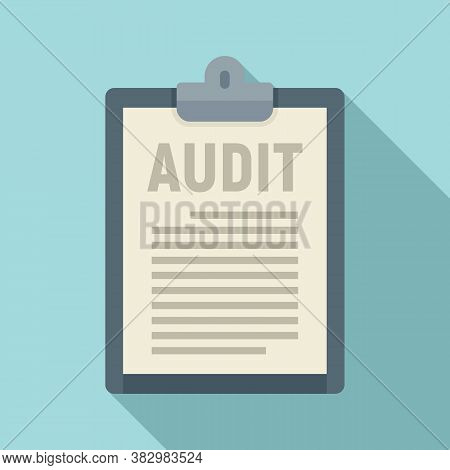 Audit Clipboard Icon. Flat Illustration Of Audit Clipboard Vector Icon For Web Design