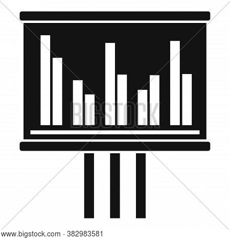 Audit Banner Graph Icon. Simple Illustration Of Audit Banner Graph Vector Icon For Web Design Isolat