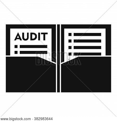 Audit Documents Icon. Simple Illustration Of Audit Documents Vector Icon For Web Design Isolated On