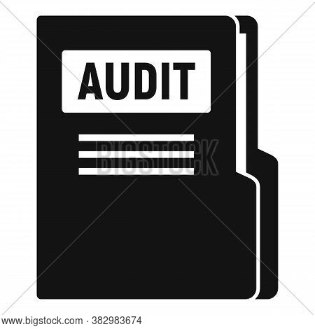 Audit Company Folder Icon. Simple Illustration Of Audit Company Folder Vector Icon For Web Design Is