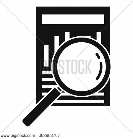 Search Audit Info Icon. Simple Illustration Of Search Audit Info Vector Icon For Web Design Isolated