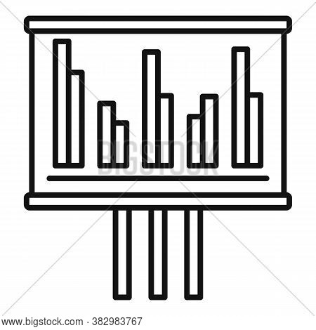 Audit Banner Graph Icon. Outline Audit Banner Graph Vector Icon For Web Design Isolated On White Bac