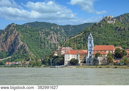 Village Of Duernstein At Danube River,wachau Valley,lower Austria