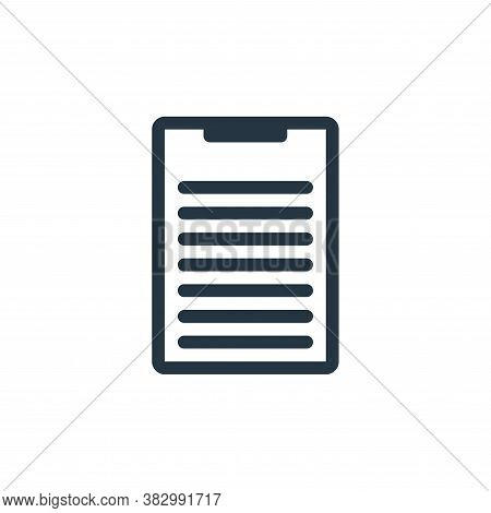 clipboard icon isolated on white background from office equipment collection. clipboard icon trendy