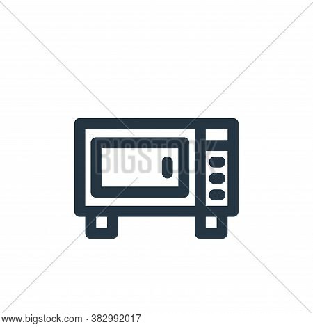 microwave icon isolated on white background from furniture collection. microwave icon trendy and mod