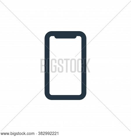 smartphone icon isolated on white background from ecommerce ui collection. smartphone icon trendy an