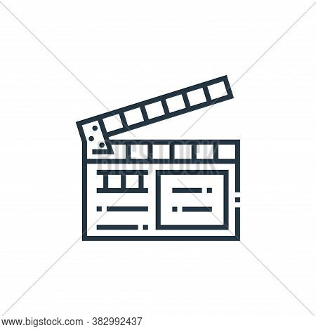 clapperboard icon isolated on white background from photography collection. clapperboard icon trendy